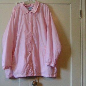 #245- pink women's waterproof jacket